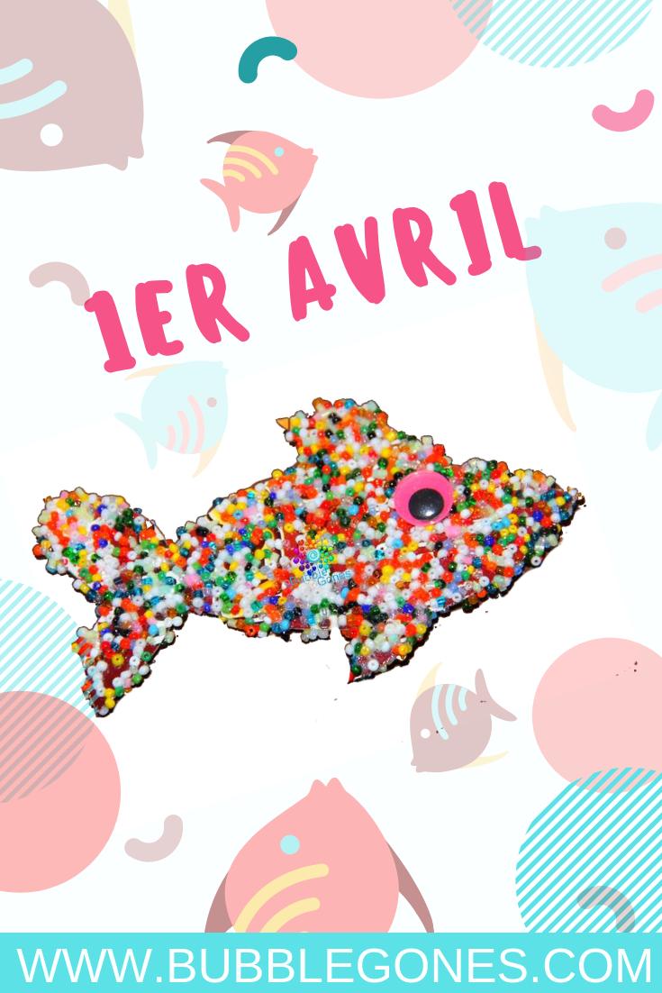 pour le 1er avril, voici un tuto simple pour réaliser un poisson original. Un peu de colle, des perles et hop vous aurez tout ce qui faut pour réaliser ce poisson #bricolage #maternelle #collage #1eravril #poisson #farce #blague #perle #motricite #diy #tuto