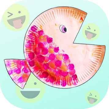 Transformer une assiette en carton en poisson